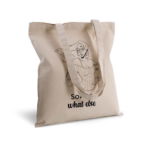 Shopper 100% cotone personalizzata Caratteri