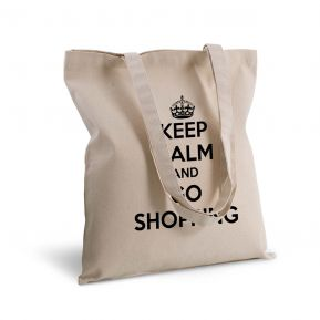 Borsa shopper di tela keep calm personalizzata