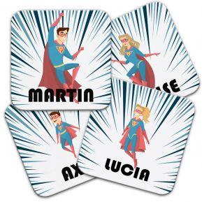 Sottobicchiere personalizzato supereroi