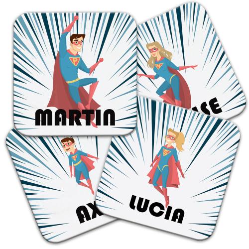 Sottobicchieri personalizzati supereroi
