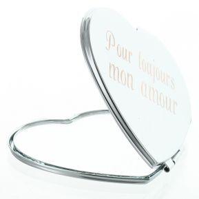 Specchietto cuore personalizzato