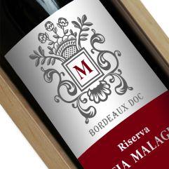 Bottiglia di vino personalizzata stemma