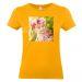 T-shirt donna albicocca personalizzata foto