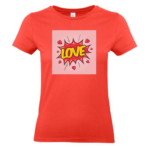 T-shirt donna corallo personalizzata foto