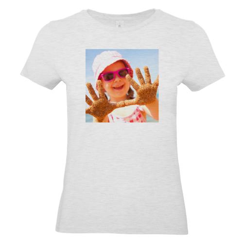 T-shirt donna grigia personalizzata foto