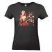 T-shirt donna nera personalizzata foto