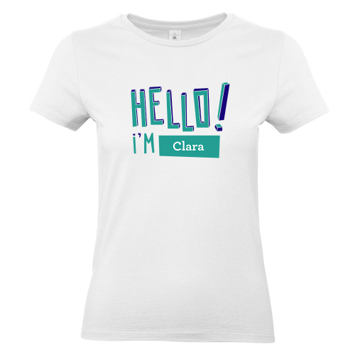 T-shirt Hello bianca