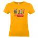 T-shirt Hello gialla
