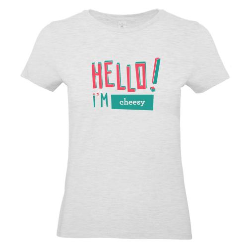 T-shirt Hello grigia