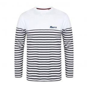 T-shirt a maniche lunghe marinière personalizzata