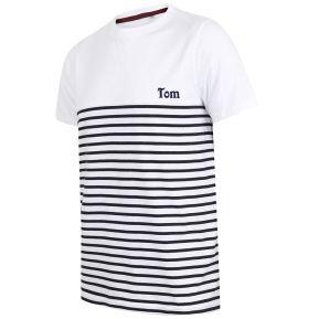 T-shirt marinière con nome ricamato