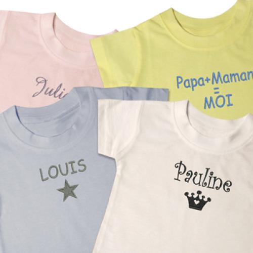 Maglietta neonato ricamata