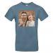 T-shirt uomo blu stone personalizzata foto