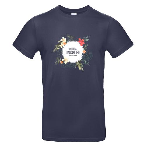 T-shirt uomo blu scuro personalizzata foto