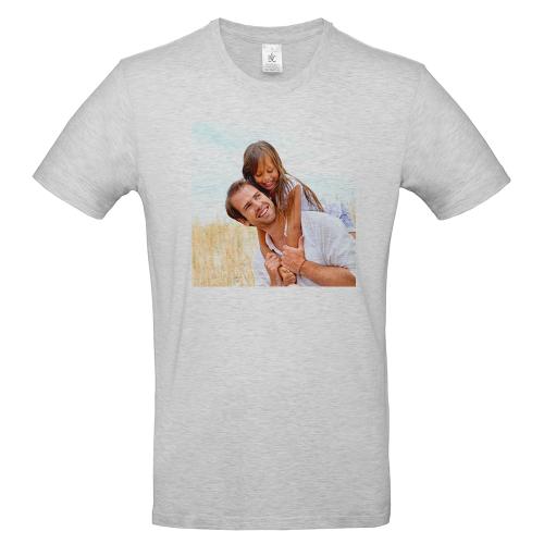 T-shirt uomo grigia personalizzata foto
