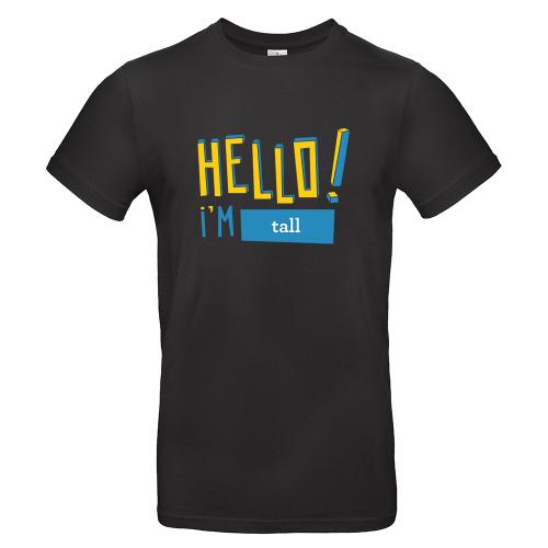 T-shirt uomo personalizzata Hello nera