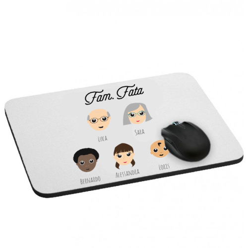 Tappetino mouse famiglia