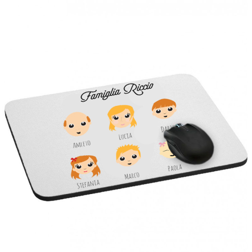 Tappetino mouse We Are Family personalizzato