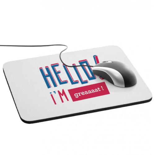 Tappetino mouse Hello personalizzato