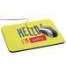 Tappetino mouse Hello personalizzato con nome