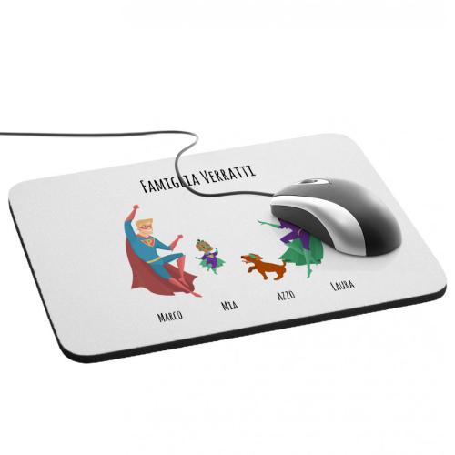 Tappetino mouse supereroi personalizzato