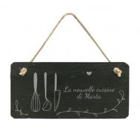 Targhetta porta cucina in ardesia personalizzata