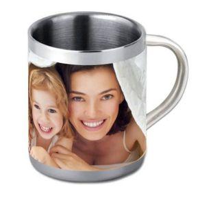 Tazza in acciaio personalizzata foto