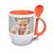 Tazza personalizzata con foto arancione