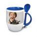 Tazza personalizzata con foto blu