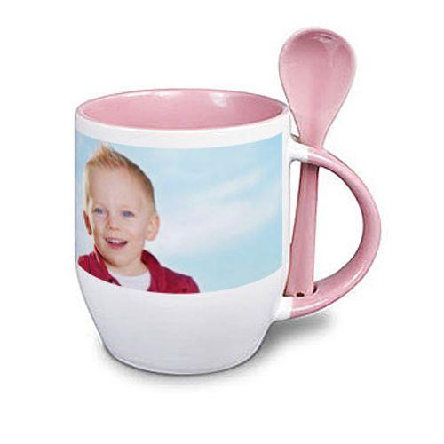 Tazza personalizzata con foto rosa