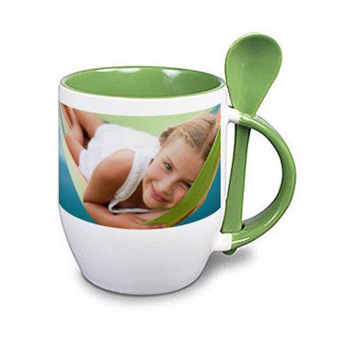 Tazza personalizzata con foto verde