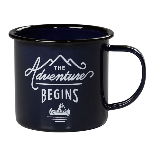 Tazza smaltata The Adventure Begins blu
