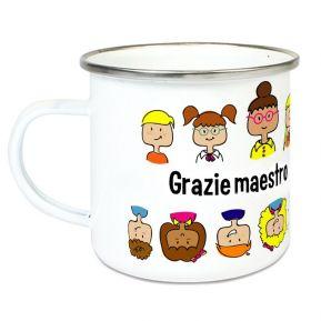 Tazza smaltata personalizzata Grazie Maestra