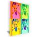 Tela pop art verticale 4 foto