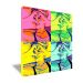 Tela pop art quadrata con 4 foto