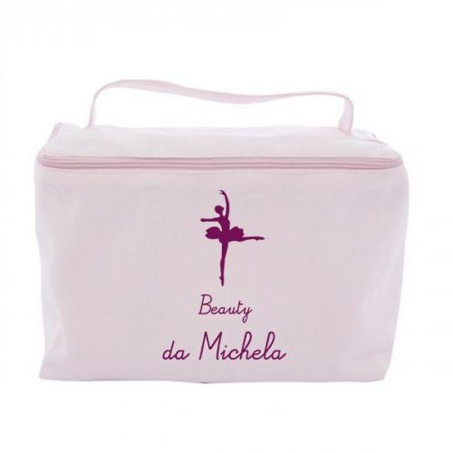 Trousse da bagno vanity case personalizzata rosa