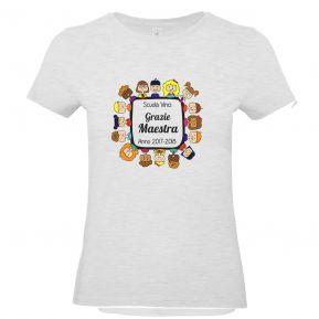 T-shirt da donna personalizzata Grazie Maestra