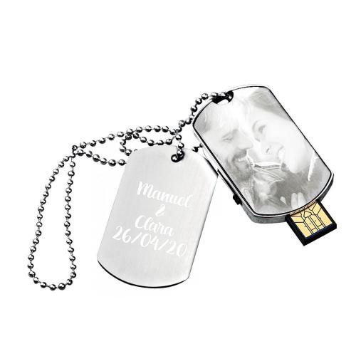 Piastrina militare chiavetta USB foto