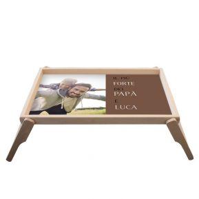 Vassoio personalizzato foto festa del papà