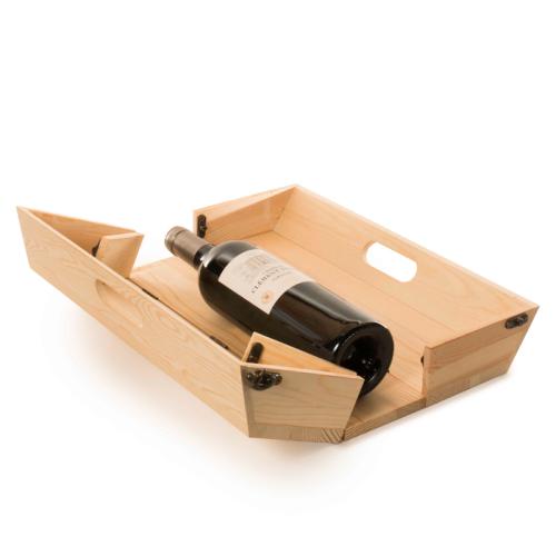 Cassetta vino personalizzabile vassoio