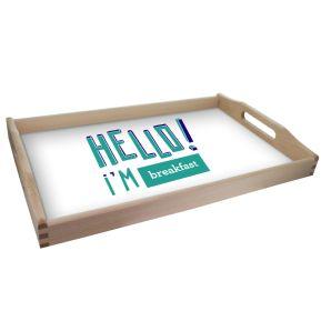 Vassoio personalizzato Hello