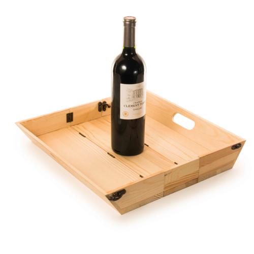 Cassetta vino personalizzata vassoio