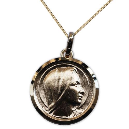 Ciondolo Vergine Maria placcato oro personalizzato