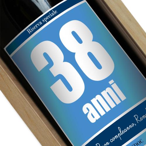etichetta vino compleanno custom