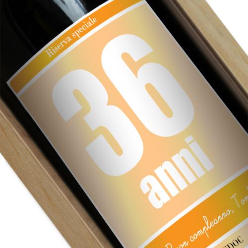 Bottiglia di vino personalizzata compleanno