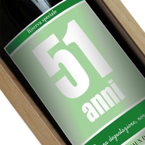 Etichetta bottiglia vino personalizzata