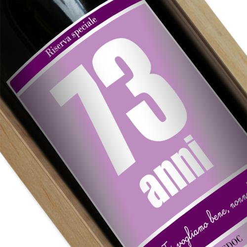 bottiglia vino personalizzata comple