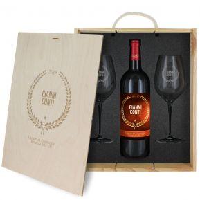 Cofanetto vino e bicchieri premio