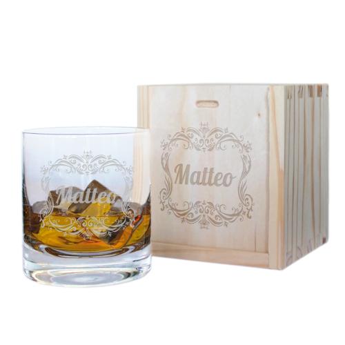 Bicchiere da whisky stile barocco