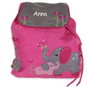 Zainetto personalizzato elefantino rosa
